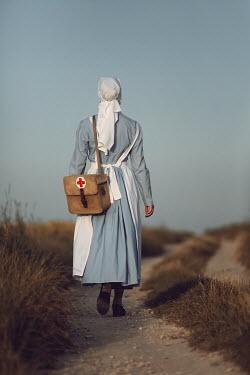 Magdalena Russocka historical wartime nurse in field