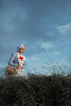 Magdalena Russocka historical wartime nurse in field