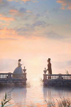 Lee Avison victorian couple meeting at sunrise