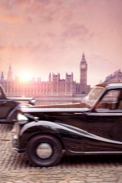 Lee Avison vintage 1940s cars driving in London