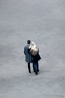 Miguel Sobreira Couple Standing on Tarmac From Above