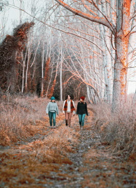 Mary Wethey Family walking in field