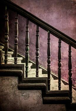 Jaroslaw Blaminsky Wooden banister on staircase