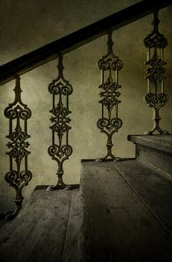 Jaroslaw Blaminsky Wrought iron banister on staircase