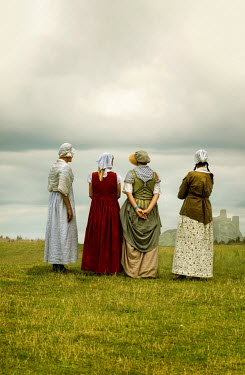 Stephen Mulcahey Victorian women standing in field