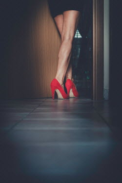 Paolo Martinez FEMALE LEGS IN RED STILETTOS THROUGH DOOR Women