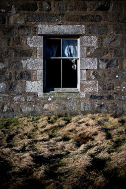 David Baker WINDOW IN OLD STONE COUNTRY HOUSE Houses