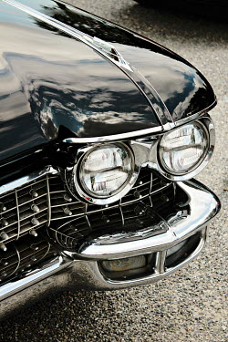 Jasenka Arbanas HEADLIGHTS OF BLACK RETRO CAR Cars