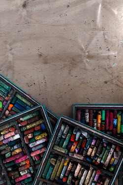 Maria Petkova BOXES OF MULTICOLOURED CHALK PASTELS Miscellaneous Objects