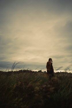 Shelley Richmond GIRL IN BROWN COAT IN WINTRY COUNTRYSIDE Women