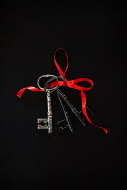 Miguel Sobreira THREE ANTIQUE KEYS TIED WITH RED RIBBON Miscellaneous Objects