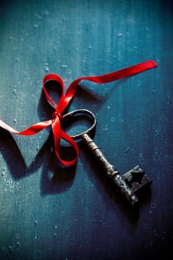 Miguel Sobreira ANTIQUE KEY TIED WITH RED RIBBON Miscellaneous Objects