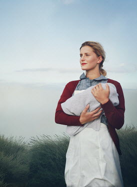 Mark Owen BLONDE NURSE HOLDING BABY BY DUNE Women