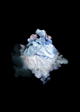 Meg Cowell FLOATING BLUE AND WHITE GOWN Miscellaneous Objects