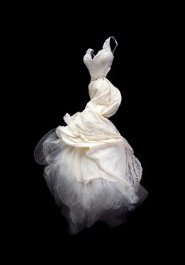 Meg Cowell FLOATING WHITE SILKY DRESS Miscellaneous Objects