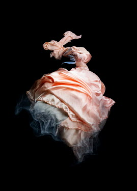 Meg Cowell FLOATING ORANGE SILKY GOWN Miscellaneous Objects