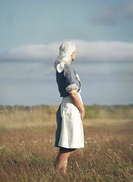 Mark Owen NURSE STANDING IN SUMMERY COUNTRYSIDE Women