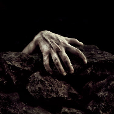 Marko Nadj DIRTY MALE HAND CLASPING AT ROCKS Men