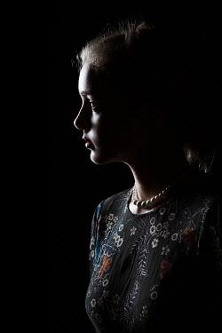 Magdalena Russocka close up of shadowed woman