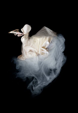 Meg Cowell FLOATING CREAM WEDDING DRESS WITH SMOKE Miscellaneous Objects