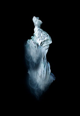 Meg Cowell FLOATING WHITE SILK HISTORICAL DRESS Miscellaneous Objects