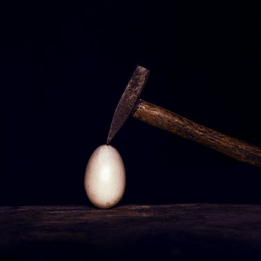 Marko Nadj IRON HAMMER CRACKING EGG Miscellaneous Objects