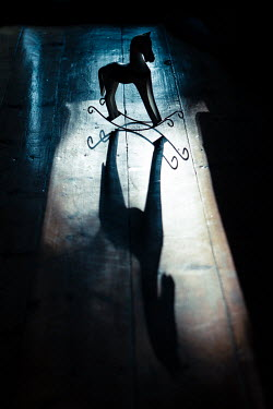 Magdalena Russocka ROCKING HORSE WITH SHADOW INDOORS Miscellaneous Objects
