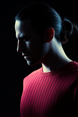 Magdalena Russocka modern man in red jumper inside