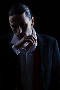 Magdalena Russocka modern man in suit inside