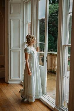 Shelley Richmond REGENCY WOMAN STANDING OPEN DOOR WITH BALCONY Women