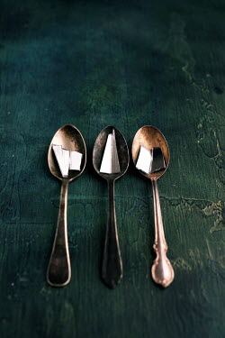 Cristina Mitchell THREE SPOONS WITH BROKEN PIECES OF MIRROR Miscellaneous Objects