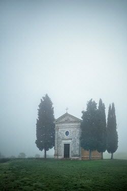 Evelina Kremsdorf ITALIAN CHAPEL IN FOGGY COUNTRYSIDE Religious Buildings