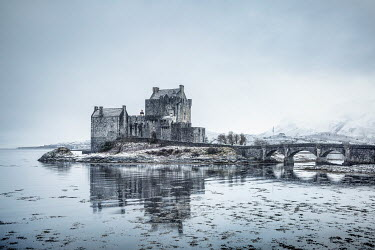 Evelina Kremsdorf SCOTTISH CASTLE AND LOCH IN WINTER Miscellaneous Buildings