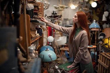 Maxim Guselnikov WOMAN WITH RED HAIR IN JUNK SHOP Women