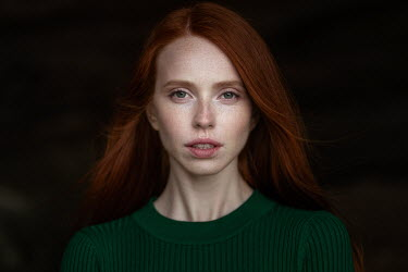 Maxim Guselnikov SERIOUS WOMAN WITH RED HAIR AND FRECKLES Women