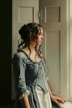 Shelley Richmond BRUNETTE HISTORICAL WOMAN BY WINDOW INDOORS Women