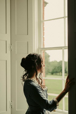 Shelley Richmond BRUNETTE HISTORICAL WOMAN BY WINDOW INDOORS Women