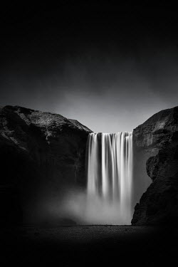 Evelina Kremsdorf WATERFALL AND SPRAY WITH CLIFFS IN SHADOW Miscellaneous Water