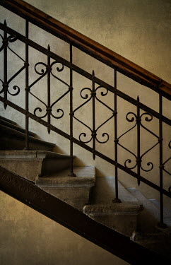 Jaroslaw Blaminsky STONE STEPS WITH DECORATIVE WROUGHT IRON Stairs/Steps