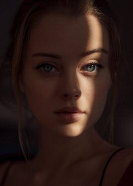 Maxim Guselnikov FACE OF BLONDE GIRL IN SHADOW Women