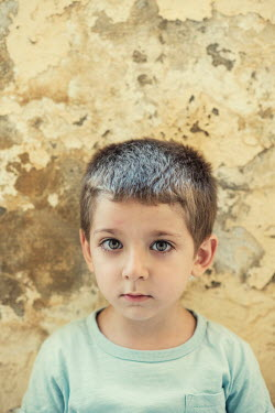 Mohamad Itani SAD LITTLE BOY IN SHABBY ROOM Children