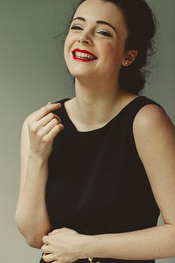 Shelley Richmond LAUGHING BRUNETTE WOMAN WITH MAKE UP Women