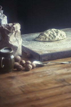 Natasza Fiedotjew DOUGH ON BREADBOARD WITH NUTS AND FLOUR Miscellaneous Objects