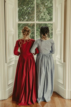 Shelley Richmond TWO HISTORICAL WOMEN ARM IN ARM BY WINDOW INDOORS Women