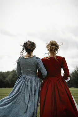 Shelley Richmond TWO YOUNG HISTORICAL WOMEN OUTDOORS Women