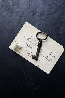 Matilda Delves OLD KEY WITH FLOWER ON LETTER Miscellaneous Objects