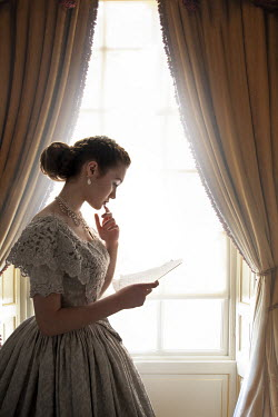 Lee Avison VICTORIAN WOMAN BY WINDOW READING LETTER Women