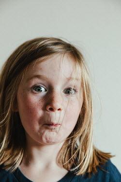 Matilda Delves CUTE LITTLE BLONDE GIRL WITH FRECKLES Children