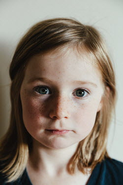 Matilda Delves SERIOUS LITTLE BLONDE GIRL WITH FRECKLES Children