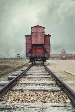 Joanna Czogala TRAIN ON TRACKS OUTSIDE CONCENTRATION CAMP Railways/Trains